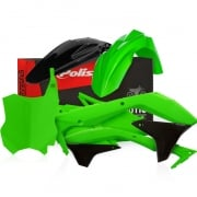 Polisport Kawasaki Plastic Kit - Green Black