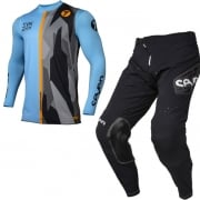Seven MX Zero Raider Blue Black Black Kit Combo