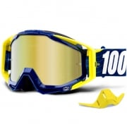 100% Racecraft Bibal Navy Mirror Lens Goggles