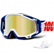 100% Racecraft Bibal White Mirror Lens Goggles