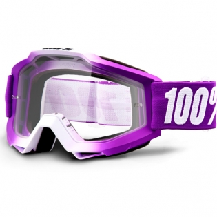 100% Accuri Framboise Clear Lens Goggles