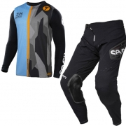 Seven MX Kids Zero Raider Black Blue Black Kit Combo