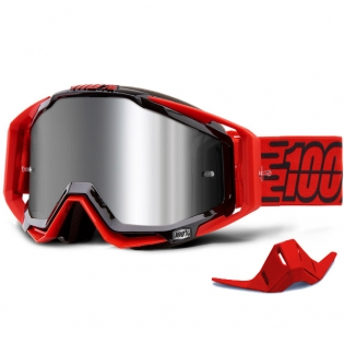 100% Racecraft Plus Toro Injected Silver Mirror Lens Goggles