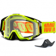 100% Racecraft Attack Yellow Clear Lens Goggles