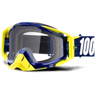 100% Racecraft Bibal Navy Clear Lens Goggles
