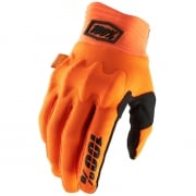 100% Cognito Fluo Orange Black Gloves