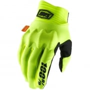 100% Cognito Fluo Yellow Black Gloves