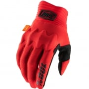 100% Cognito Red Black Gloves