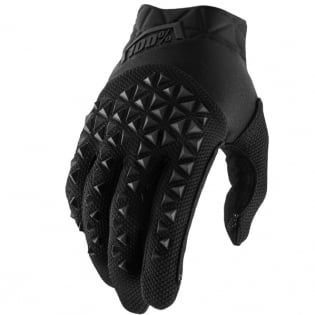 100% Airmatic Black Charcoal Gloves