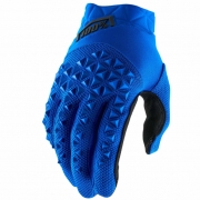 100% Airmatic Blue Black Gloves
