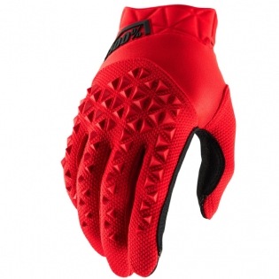 100% Airmatic Red Black Gloves