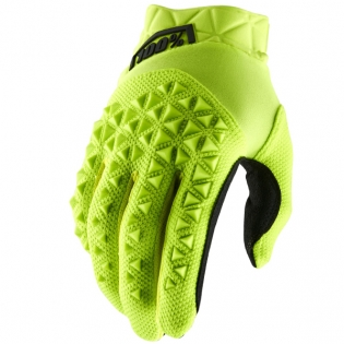 100% Airmatic Yellow Black Gloves