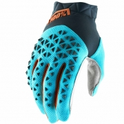 100% Airmatic Grey Ice Blue Bronze Gloves