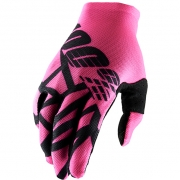 100% Celium 2 Neon Pink Black Gloves