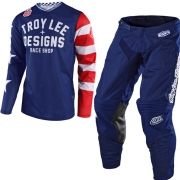 Troy Lee Designs Kids GP Air Americana Navy Kit Combo