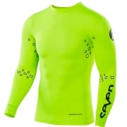 Seven MX Zero Lasercut Flo Yellow Compression Jersey
