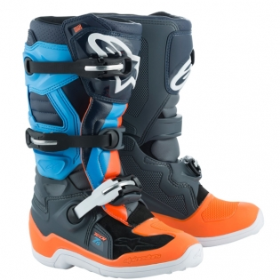 Alpinestars Kids Tech 7S Ltd Ed Magneto Anth Orange Cyan Boots