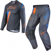 Alpinestars Kids Racer Ltd Ed Magneto Orange Cyan Kit Combo