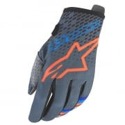 Alpinestars Kids Radar Magneto Anth Orange Cyan Gloves