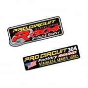 Pro Circuit Replacement 2 Stroke Exhaust Sticker Kit
