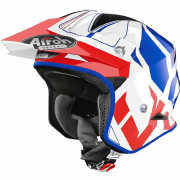 Airoh TRR Convert Blue Gloss Trials Helmet