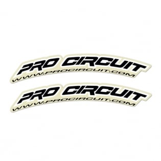 Pro Circuit Fender Decals - Black