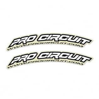 Pro Circuit Fender Decals - White