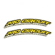 Pro Circuit Fender Decals - Yellow
