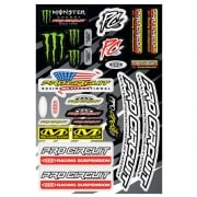 Pro Circuit Decal Sheet - Deluxe Monster