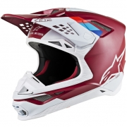 Alpinestars Supertech SM8 Contact Dark Red White Helmet