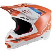 Alpinestars Supertech SM8 Contact Light Orange Cool Grey Helmet