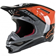 Alpinestars Supertech SM8 Triple Orange Grey Black Helmet