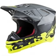 Alpinestars Supertech SM8 Radium Black Grey Yellow Helmet
