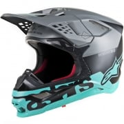 Alpinestars Supertech SM8 Radium Black Grey Teal Helmet