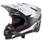Alpinestars Supertech SM10 Dyno Matt Black White Helmet