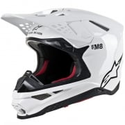Alpinestars Supertech SM8 Solid Gloss White Helmet