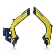 Acerbis Husqvarna X-Grip Frame Guards - Black Yellow