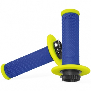 ProGrip 708 Lock On Dual Density Grips - Blue Yellow
