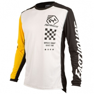 Fasthouse Icon L1 White Yellow Jersey