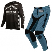 Fasthouse Originals Air Cooled L1 Black Slate Blue Kit Combo