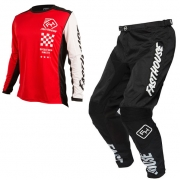 Fasthouse Icon L1 Kids Red Black Kit Combo
