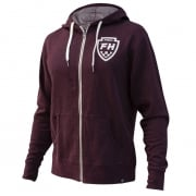 Fasthouse The Band Zip-Up Maroon Hoodie