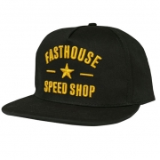 Fasthouse Speed Star Black Snapback Hat