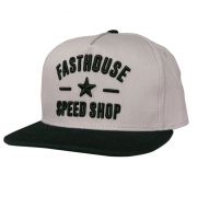 Fasthouse Speed Star Grey Black Snapback Hat