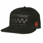 Fasthouse Tribe Black Snapback Hat