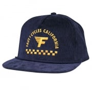 Fasthouse Cycles Navy Snapback Hat