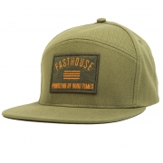Fasthouse Purveyor Split Panel Olive Snapback Hat