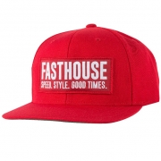Fasthouse Blockhouse Red Snapback Hat