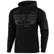 Troy Lee Designs Team KTM Black Fleece Pull Over Hoodie