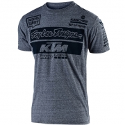 Troy Lee Designs Team KTM Vintage Grey Snow T Shirt
